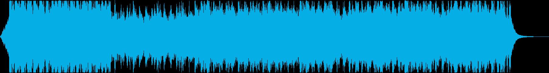 映画・ゲームのオープニング風BGMの再生済みの波形