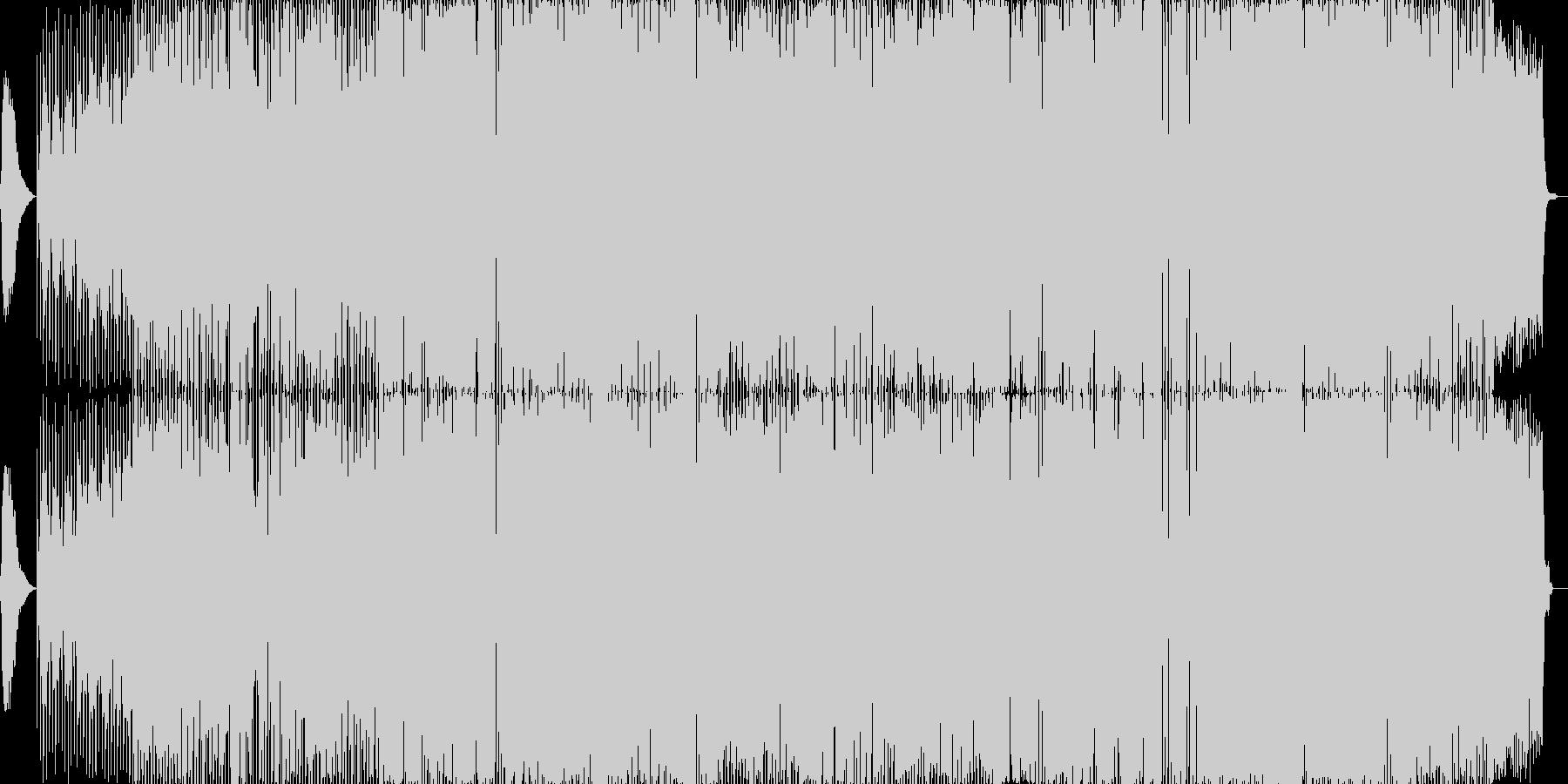 静かでゆったりとしたロックバラード曲。の未再生の波形