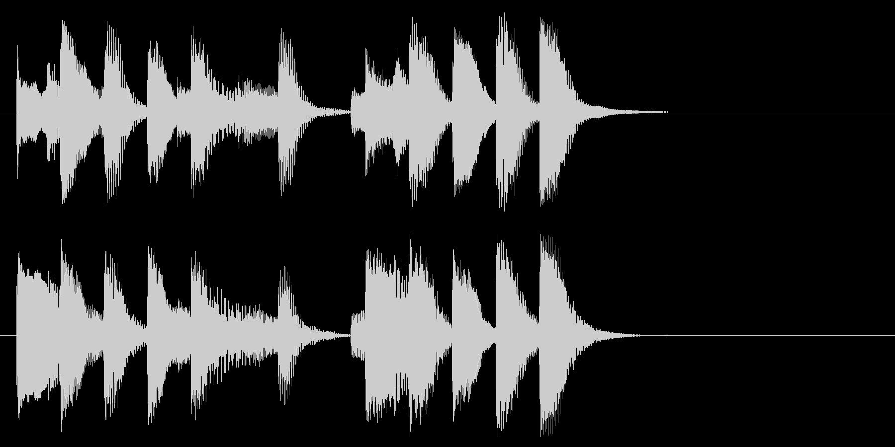 明るい気持ちになるピアノソロのジングル!の未再生の波形