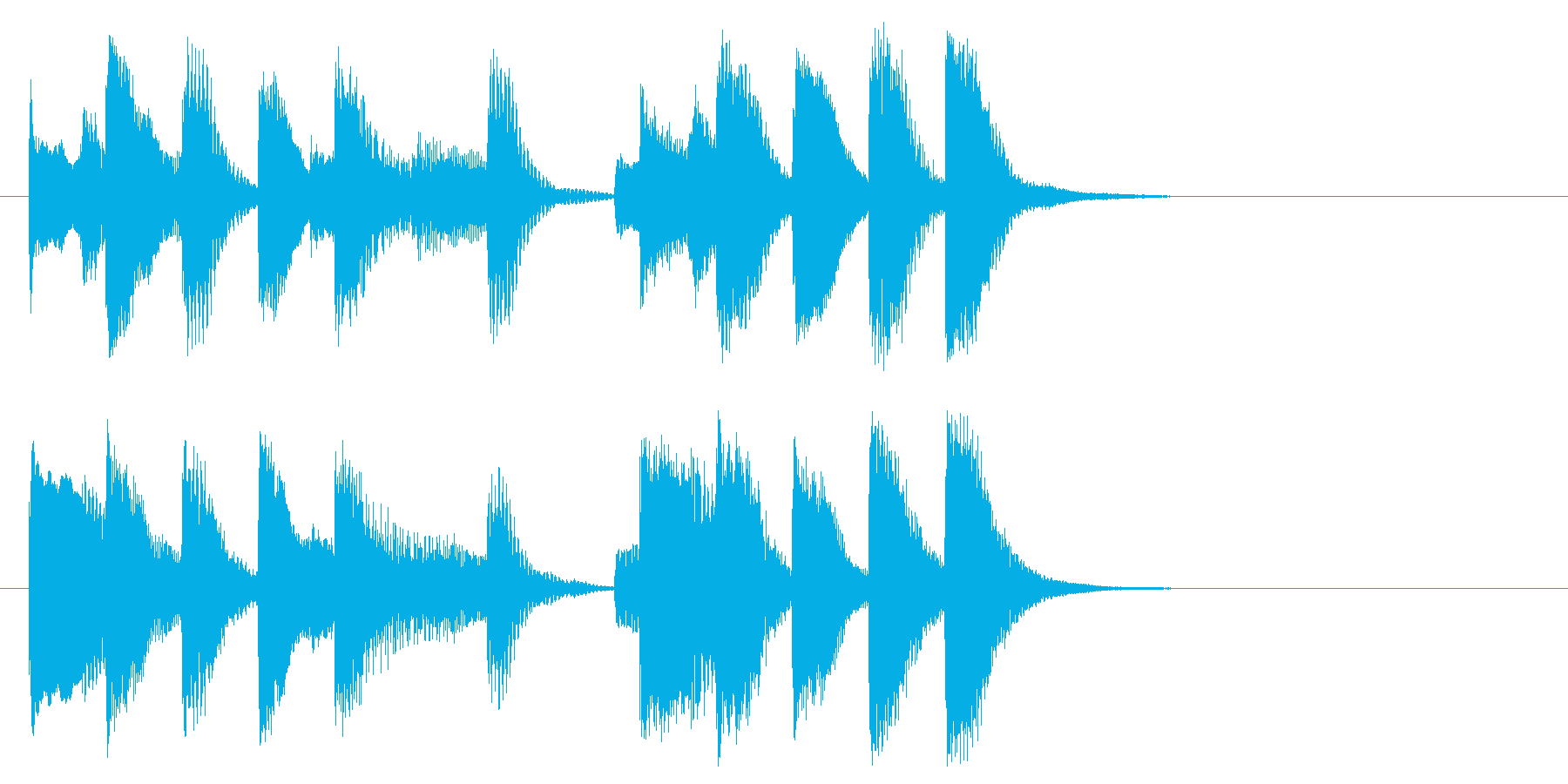 明るい気持ちになるピアノソロのジングル!の再生済みの波形