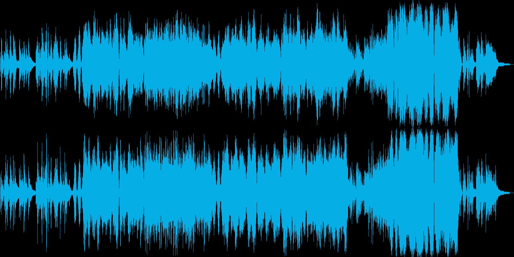 ゆったりと流れるオーケストラの再生済みの波形