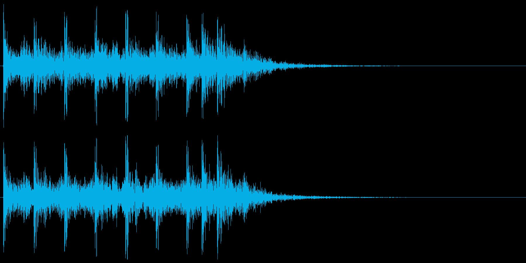 ティンパニ、打楽器の場面転換 クリアの再生済みの波形