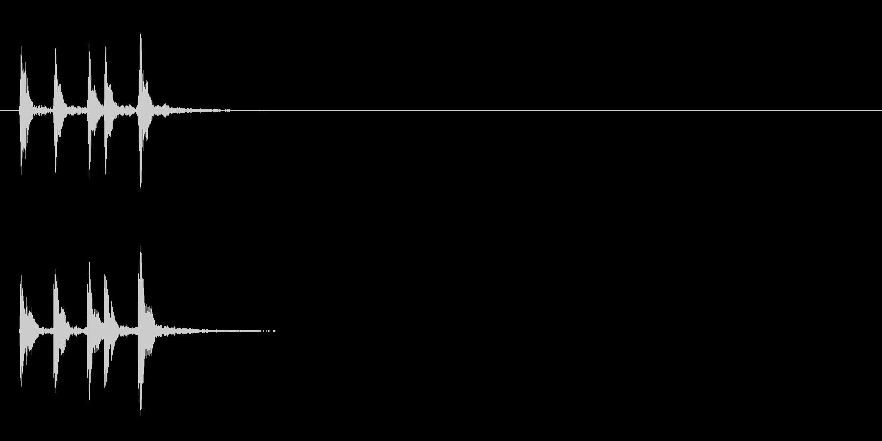 ピチカートを使ったサウンドロゴ、ジングルの未再生の波形