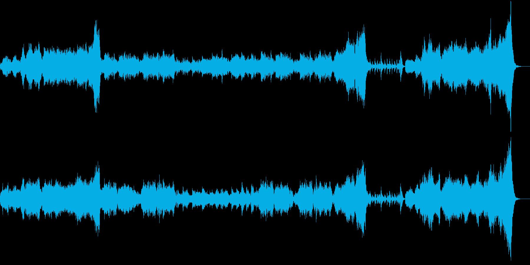 ファンタジー、RPGでよくある曲(暗め)の再生済みの波形
