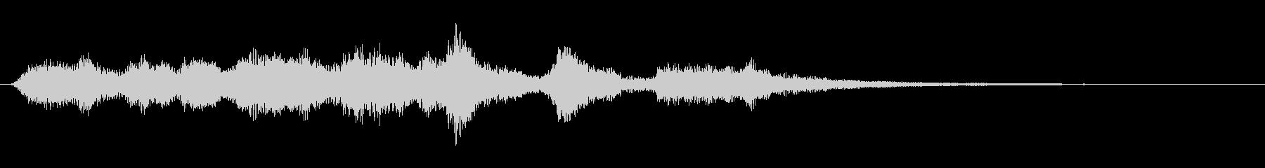 ピアノとオーケストラのショートジングルの未再生の波形