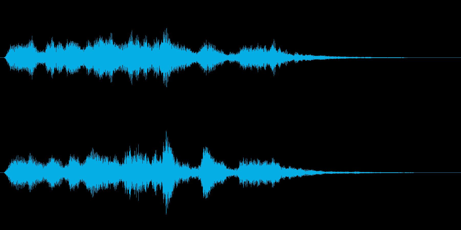 ピアノとオーケストラのショートジングルの再生済みの波形
