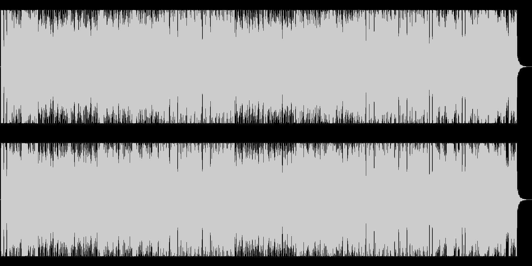 軽快でポップなシンセ曲 疾走感の未再生の波形