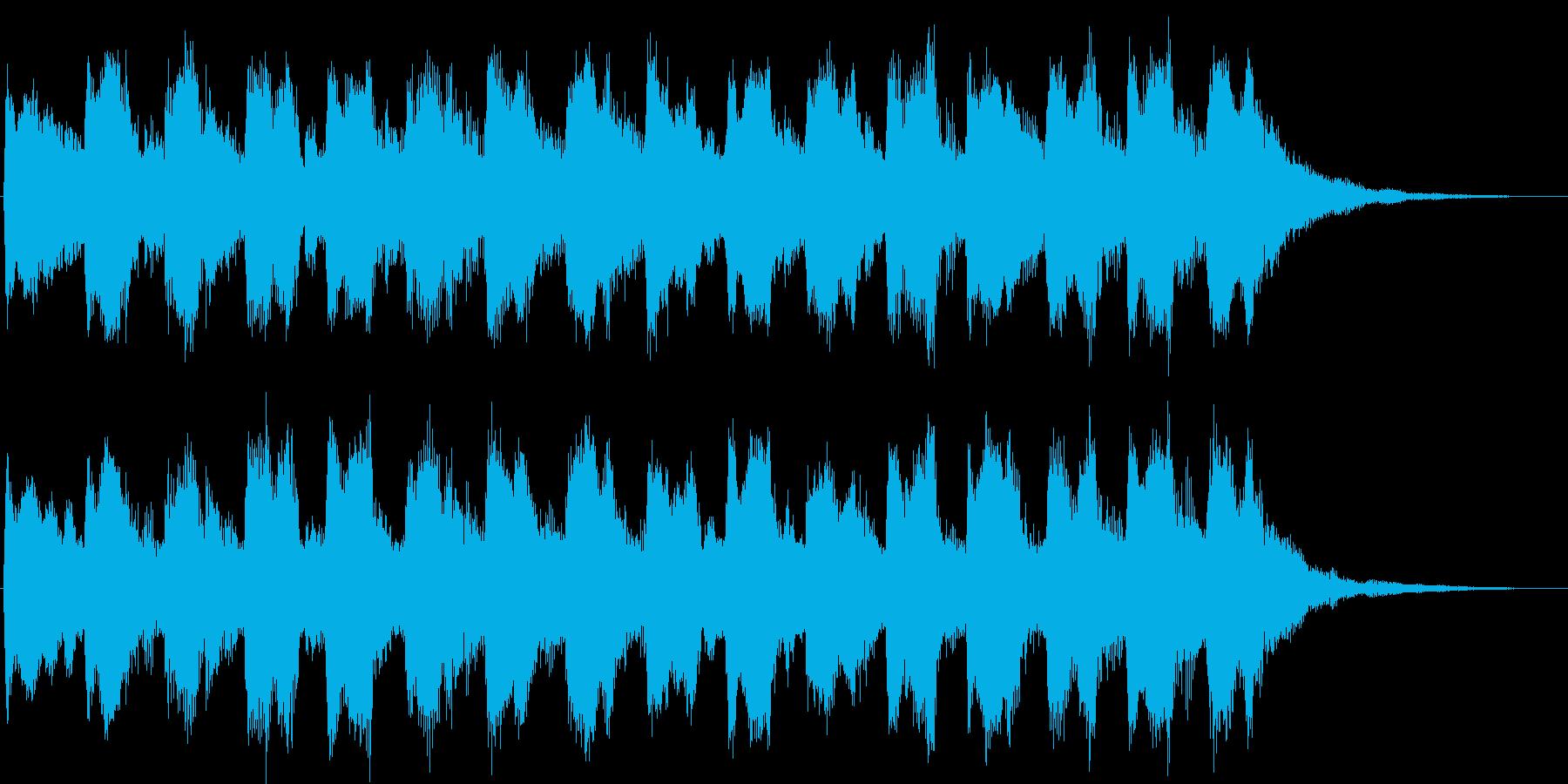コミカルなイメージの子供っぽいジングルの再生済みの波形