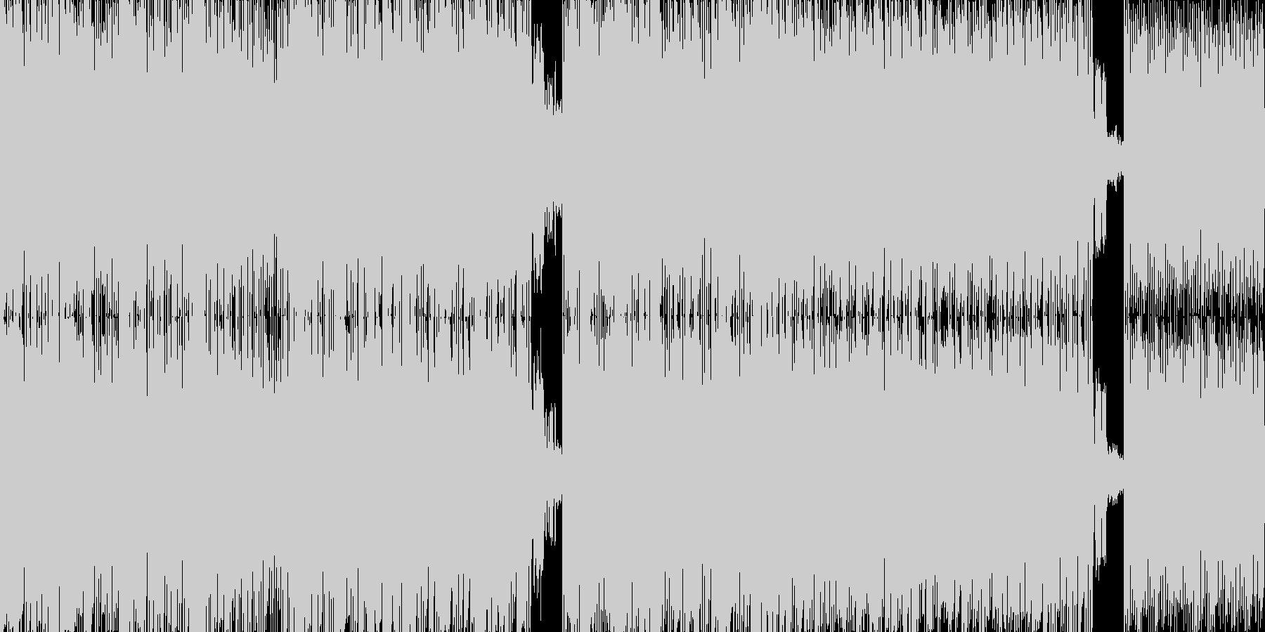 SF的でスピリチュアルなテクノトランスの未再生の波形