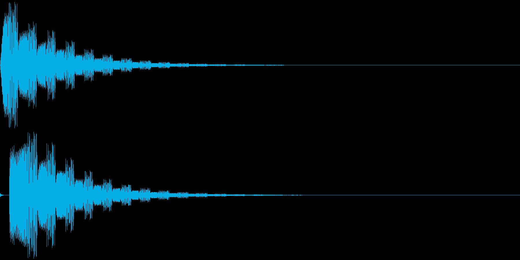 グワヮヮヮヮヮ(電子音)の再生済みの波形