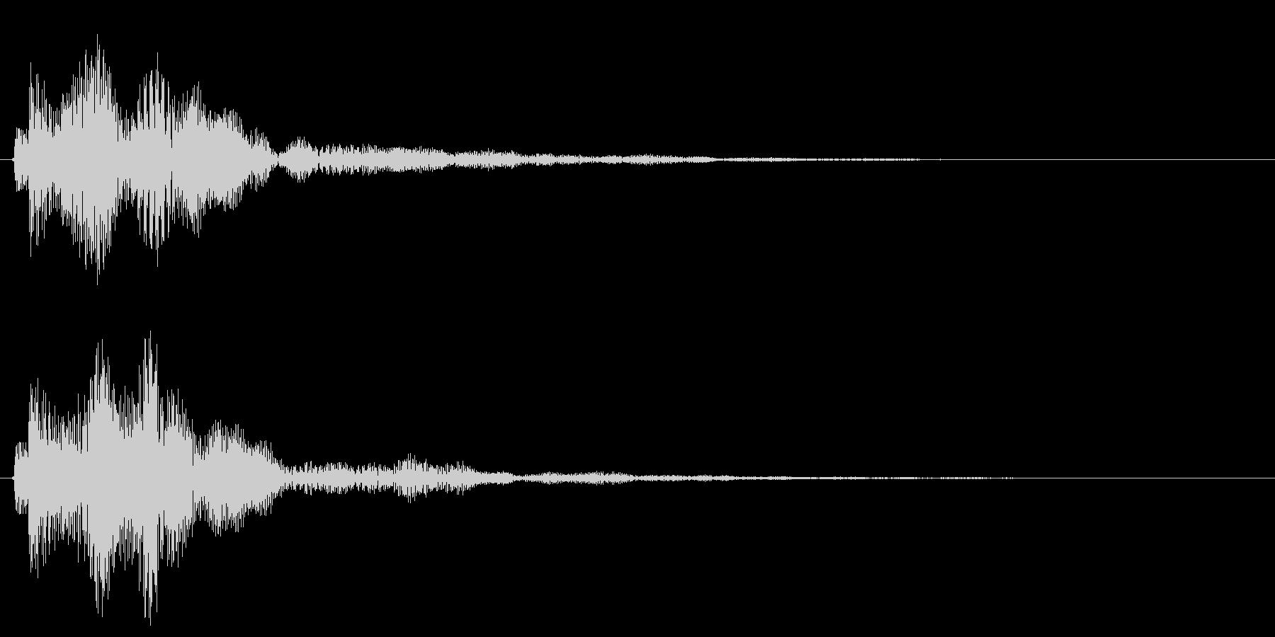 ポワ〜ン、アイテム獲得やお知らせ音の未再生の波形