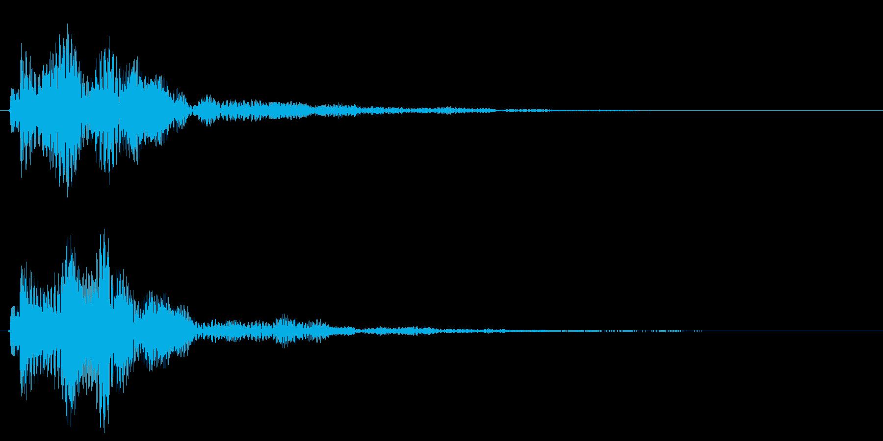 ポワ〜ン、アイテム獲得やお知らせ音の再生済みの波形