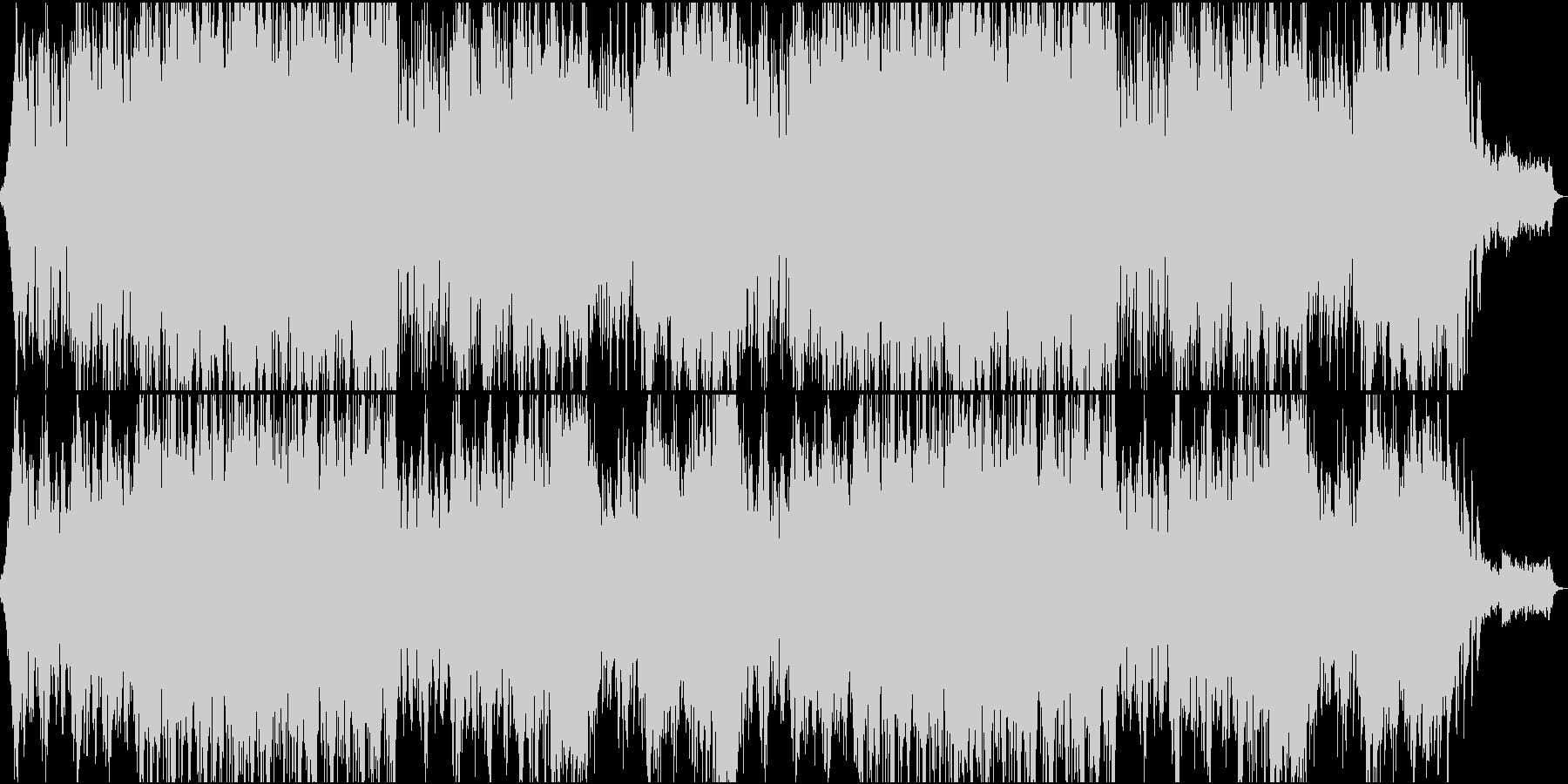 オーケストラ風のBGMの未再生の波形