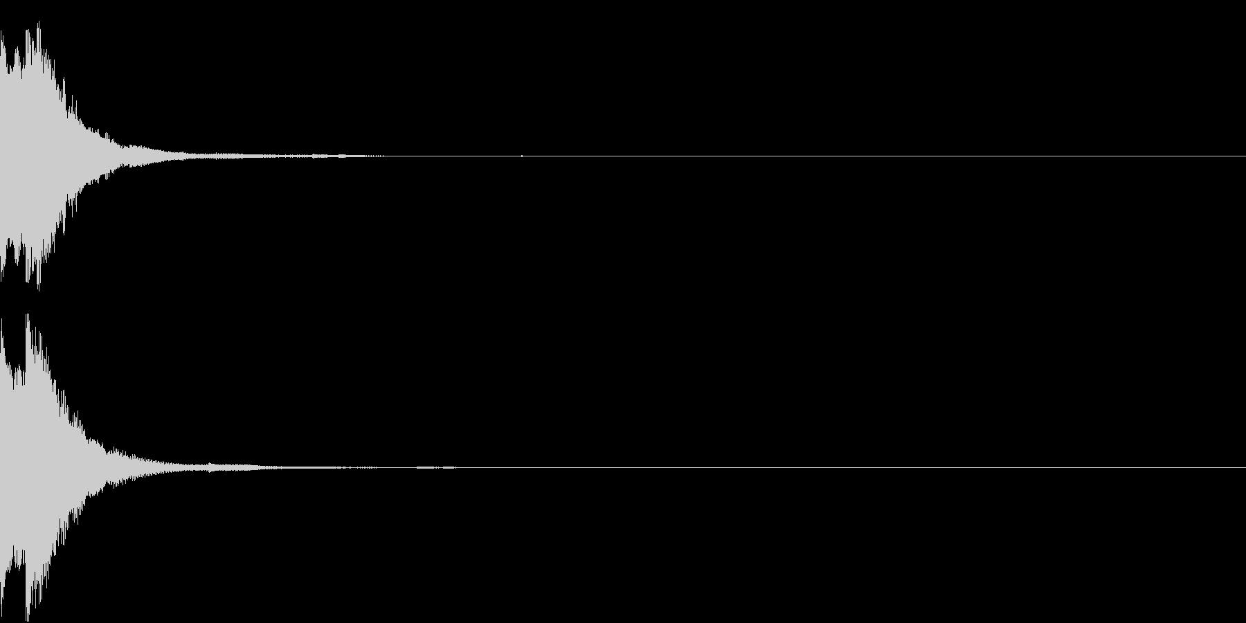 ボタン スイッチ クレジット クリックの未再生の波形