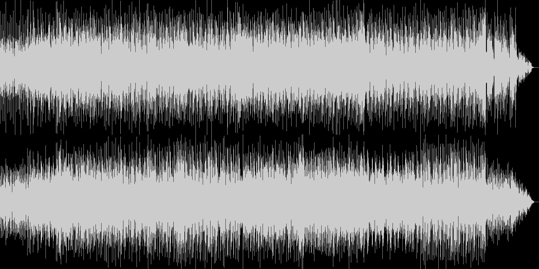 明るく爽やかなイメージのBGMの未再生の波形
