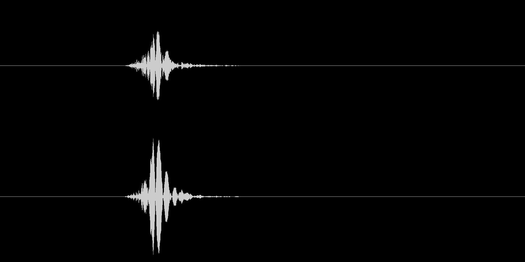 空振り、風切り音1の未再生の波形