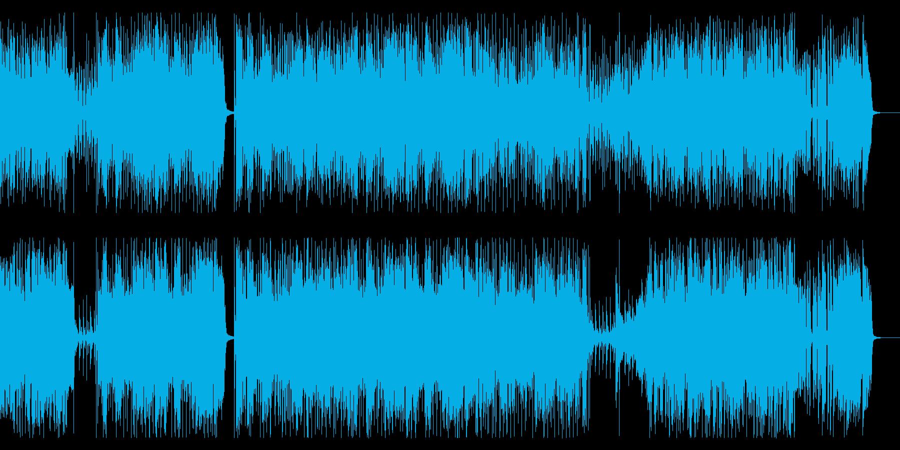 ハイテンポで元気なブラスのバンド曲の再生済みの波形