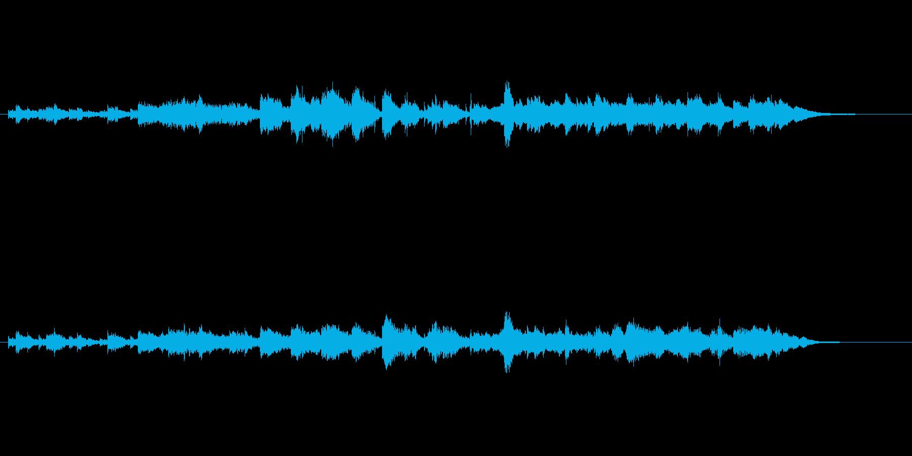 クラシカルな環境音楽風(春のせせらぎ)の再生済みの波形