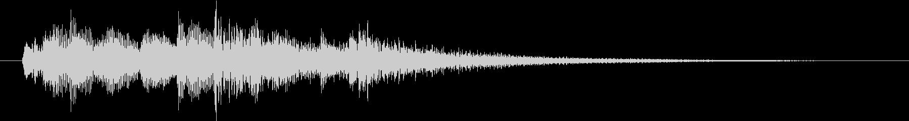 透明感のあるきれいなサウンドロゴの未再生の波形