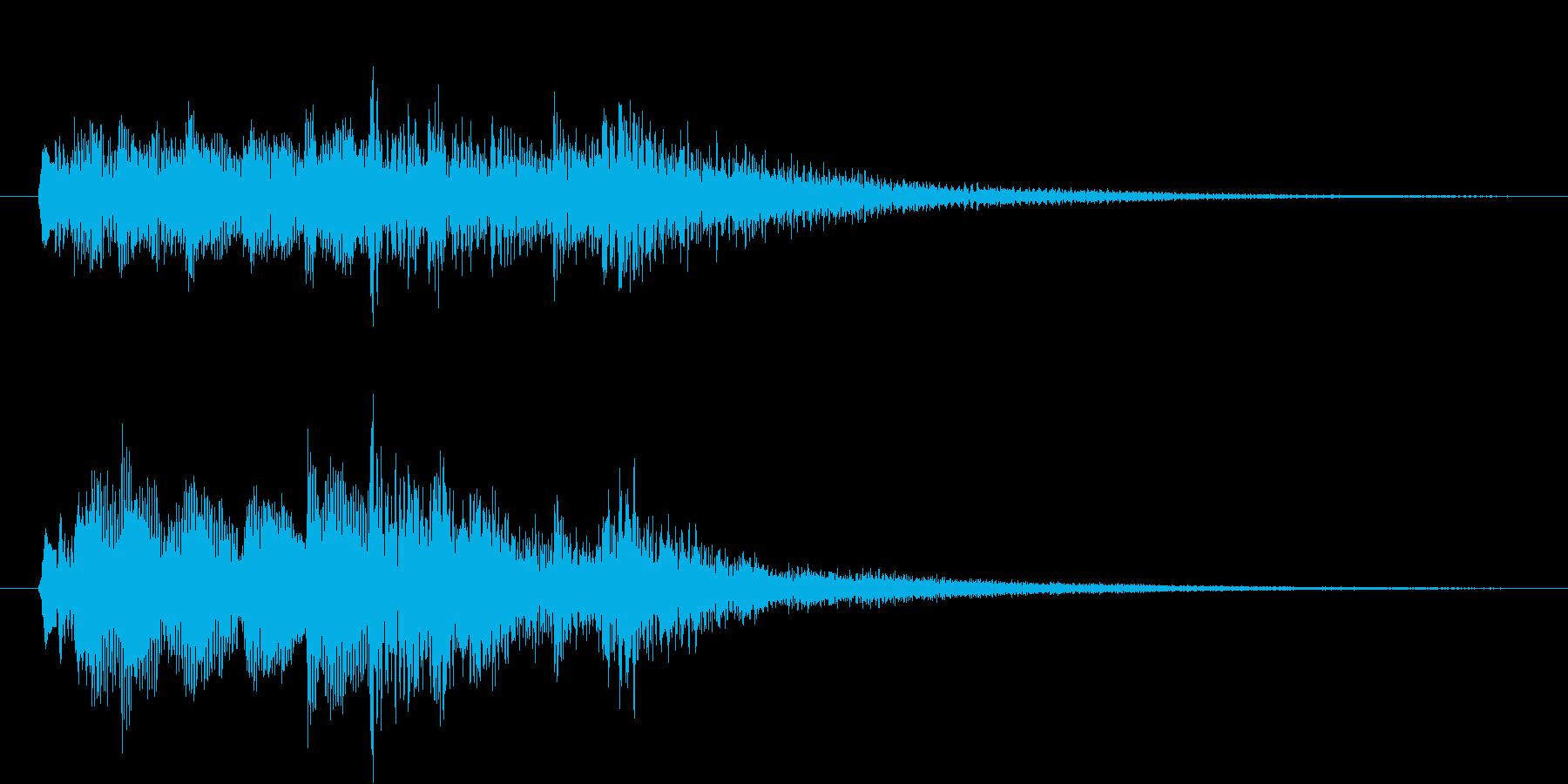 透明感のあるきれいなサウンドロゴの再生済みの波形