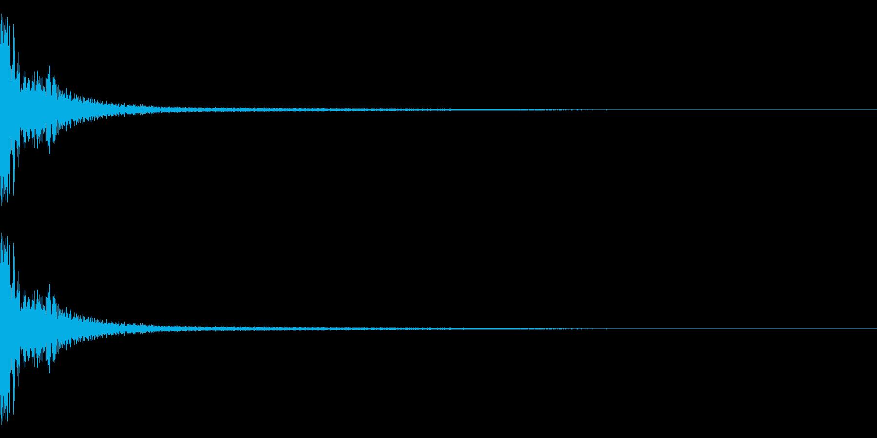DTM Snare 3 オリジナル音源の再生済みの波形