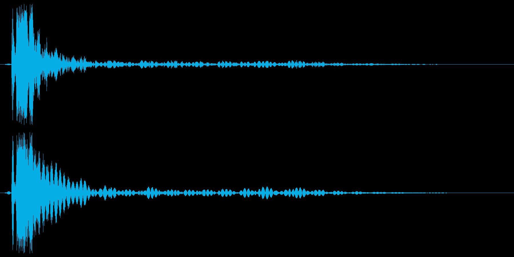 ビール開ける音(短め)の再生済みの波形