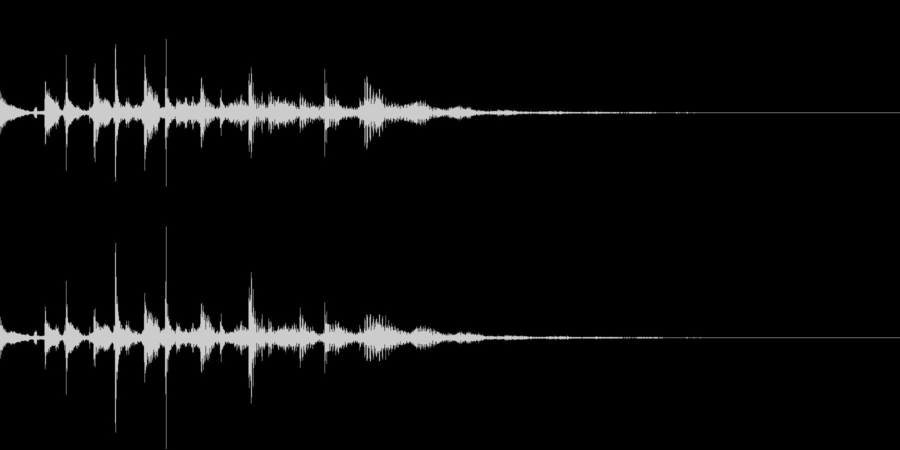 エレキギター、テケテケテケの未再生の波形