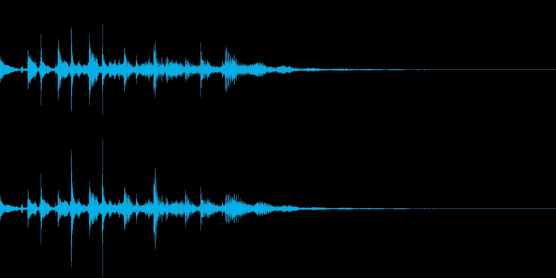 エレキギター、テケテケテケの再生済みの波形