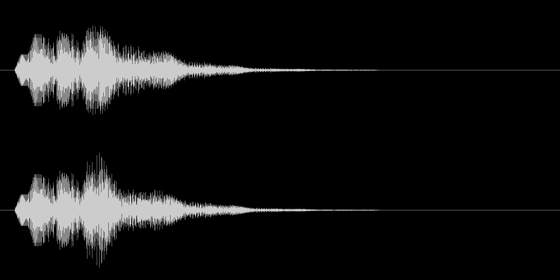 シンプルなボタン音9(タラララン↑)の未再生の波形