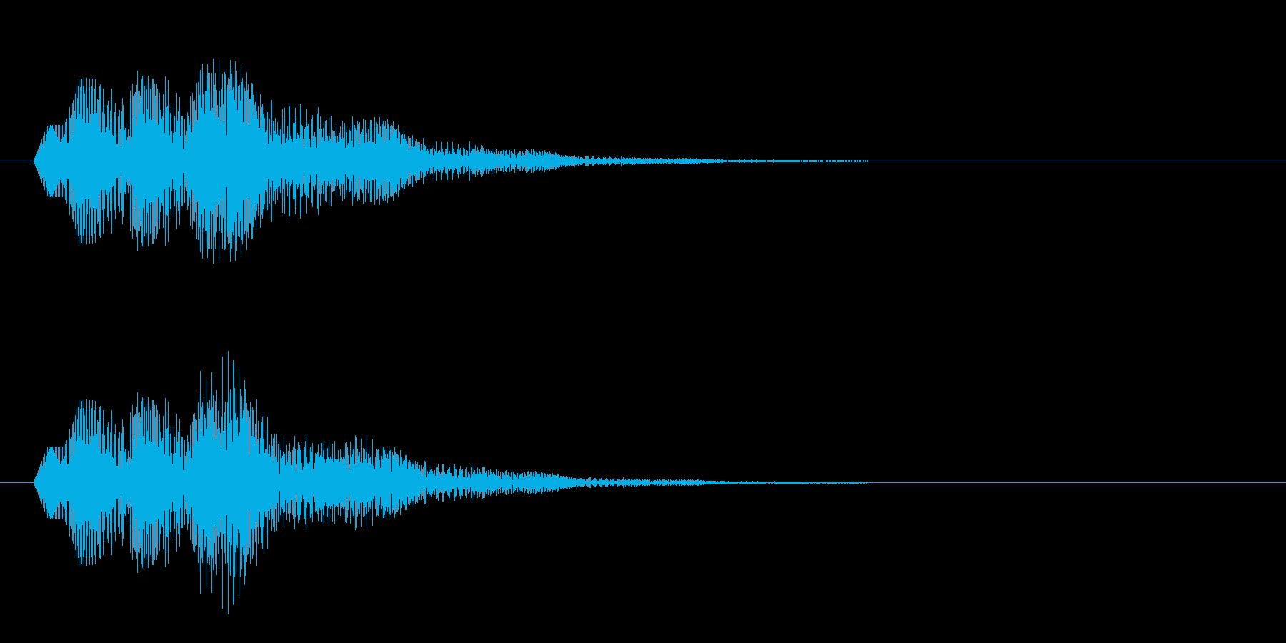 シンプルなボタン音9(タラララン↑)の再生済みの波形