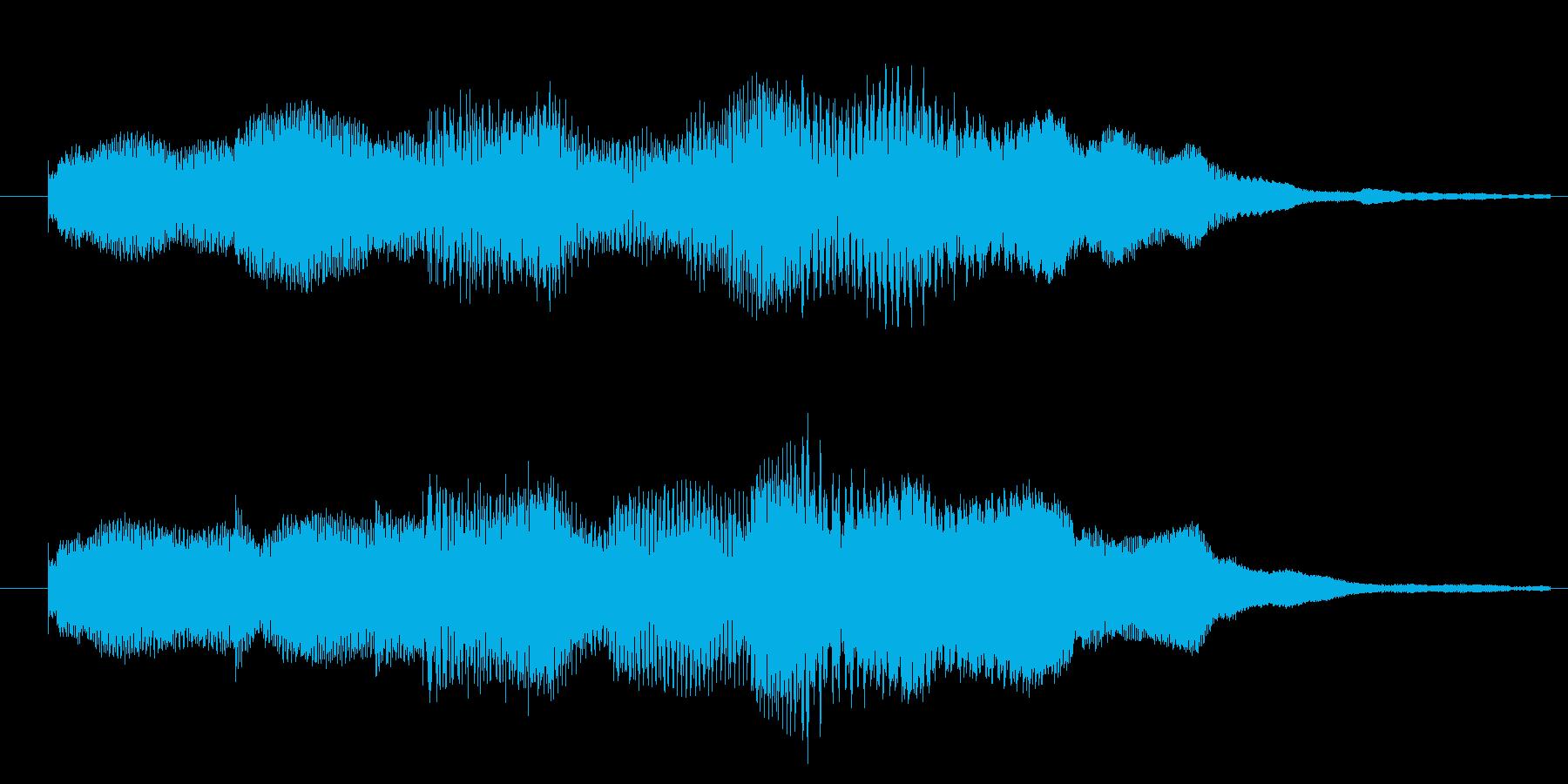 ポップで楽しい!3秒サウンドロゴの再生済みの波形