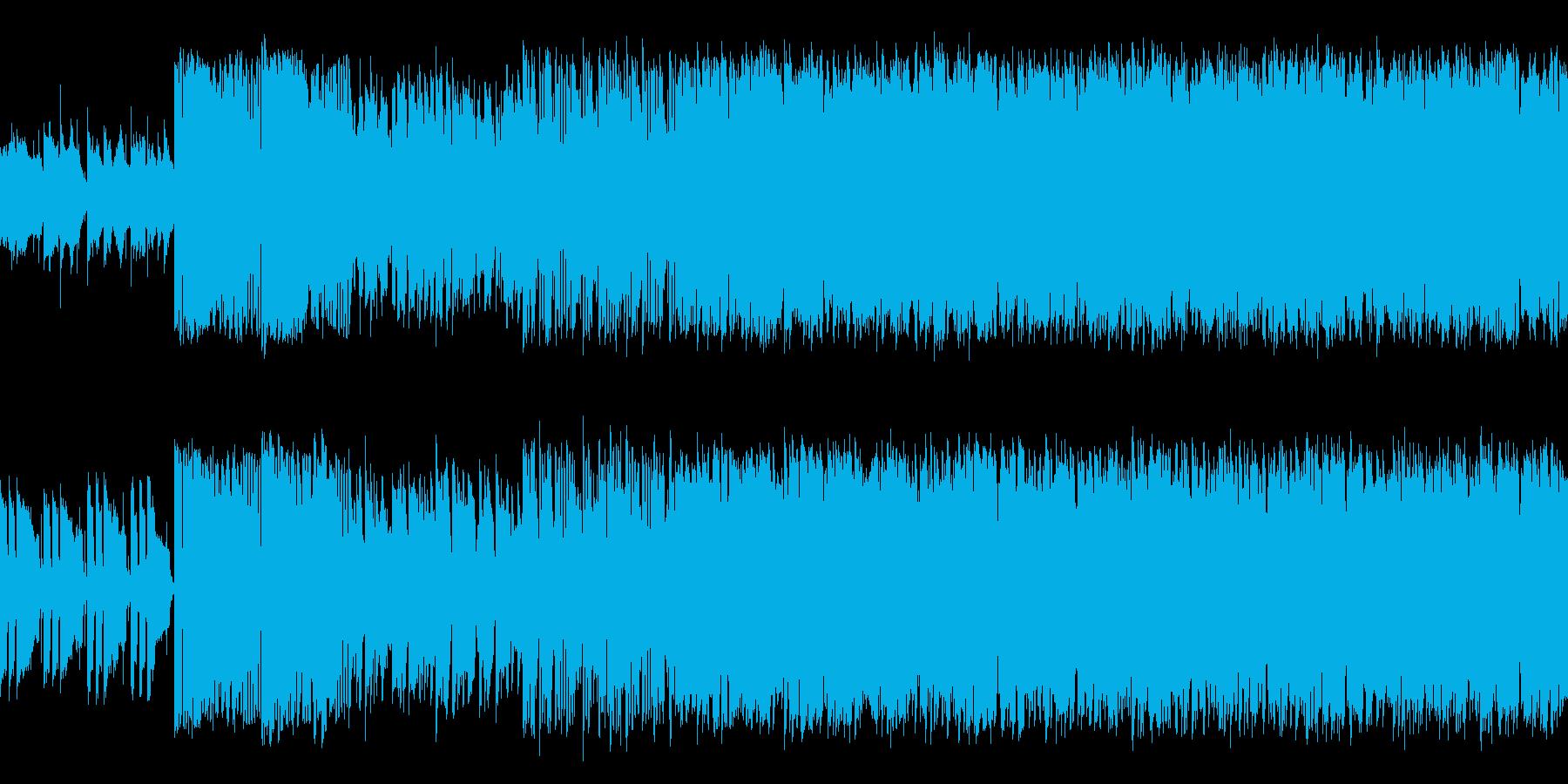爽やかで賑わっているような曲の再生済みの波形