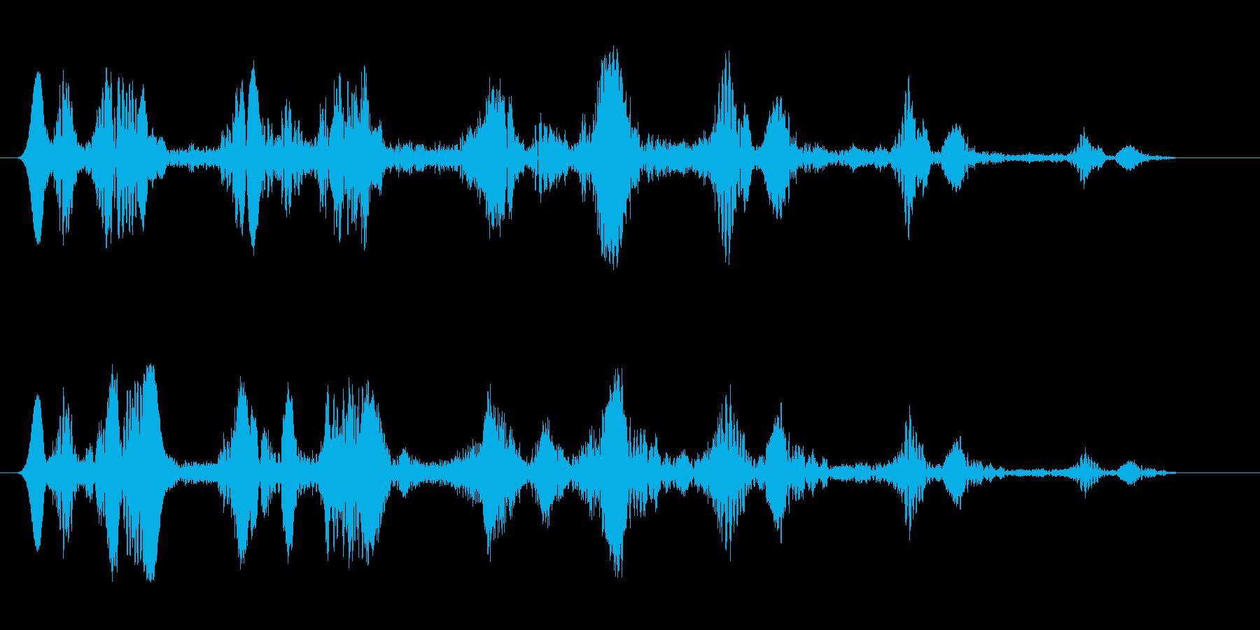 宇宙空間を漂うUFOの再生済みの波形