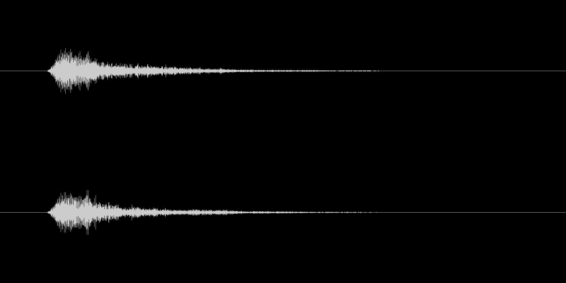 フォーン(透明感のある決定音)の未再生の波形