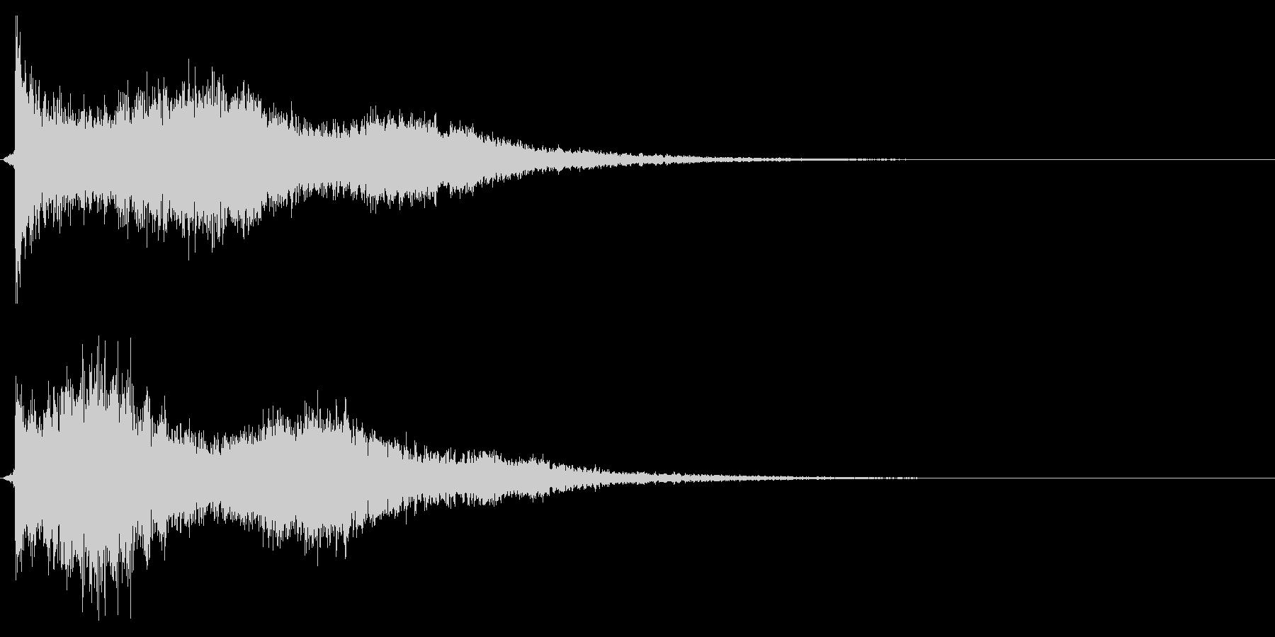 キューピキーンの未再生の波形