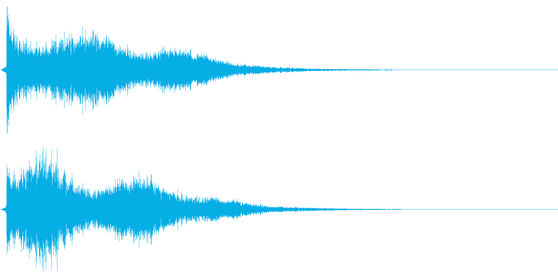 キューピキーンの再生済みの波形