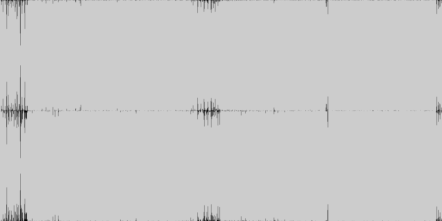 攻撃的ハードコアテクノ2・ガバ・ループ◯の未再生の波形