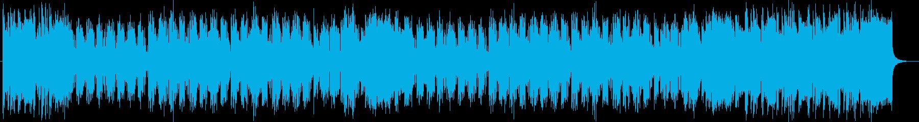 明るく勢いのあるシンセサイザーサウンドの再生済みの波形