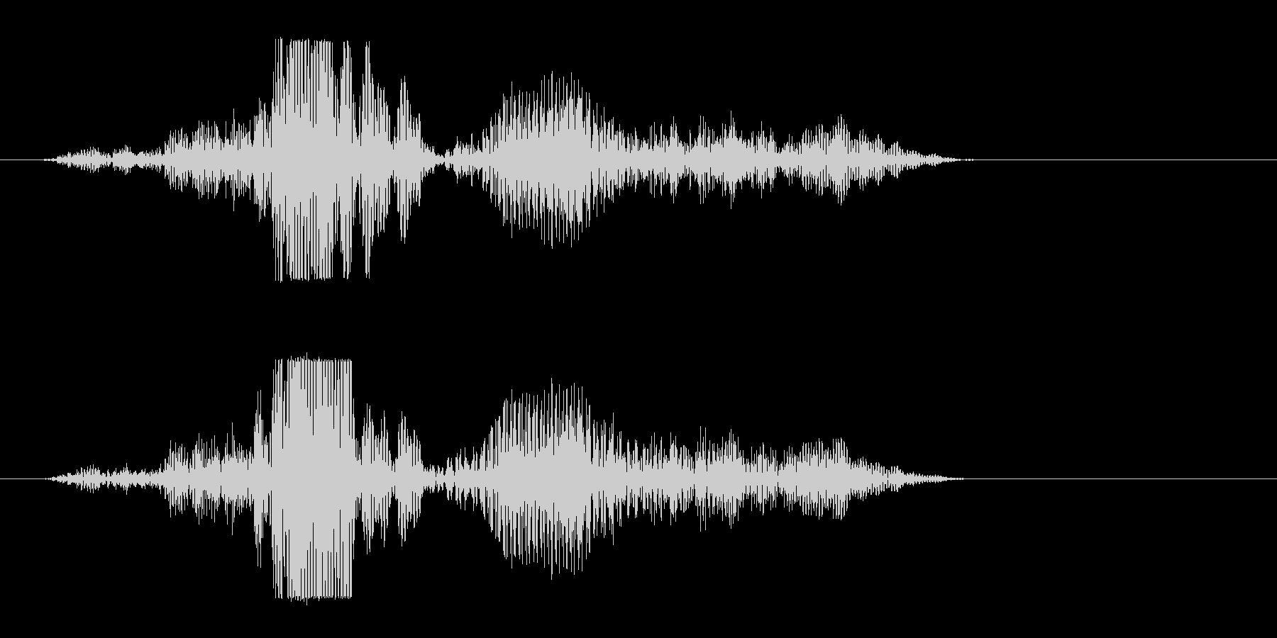 軽く響くエフェッという音の未再生の波形