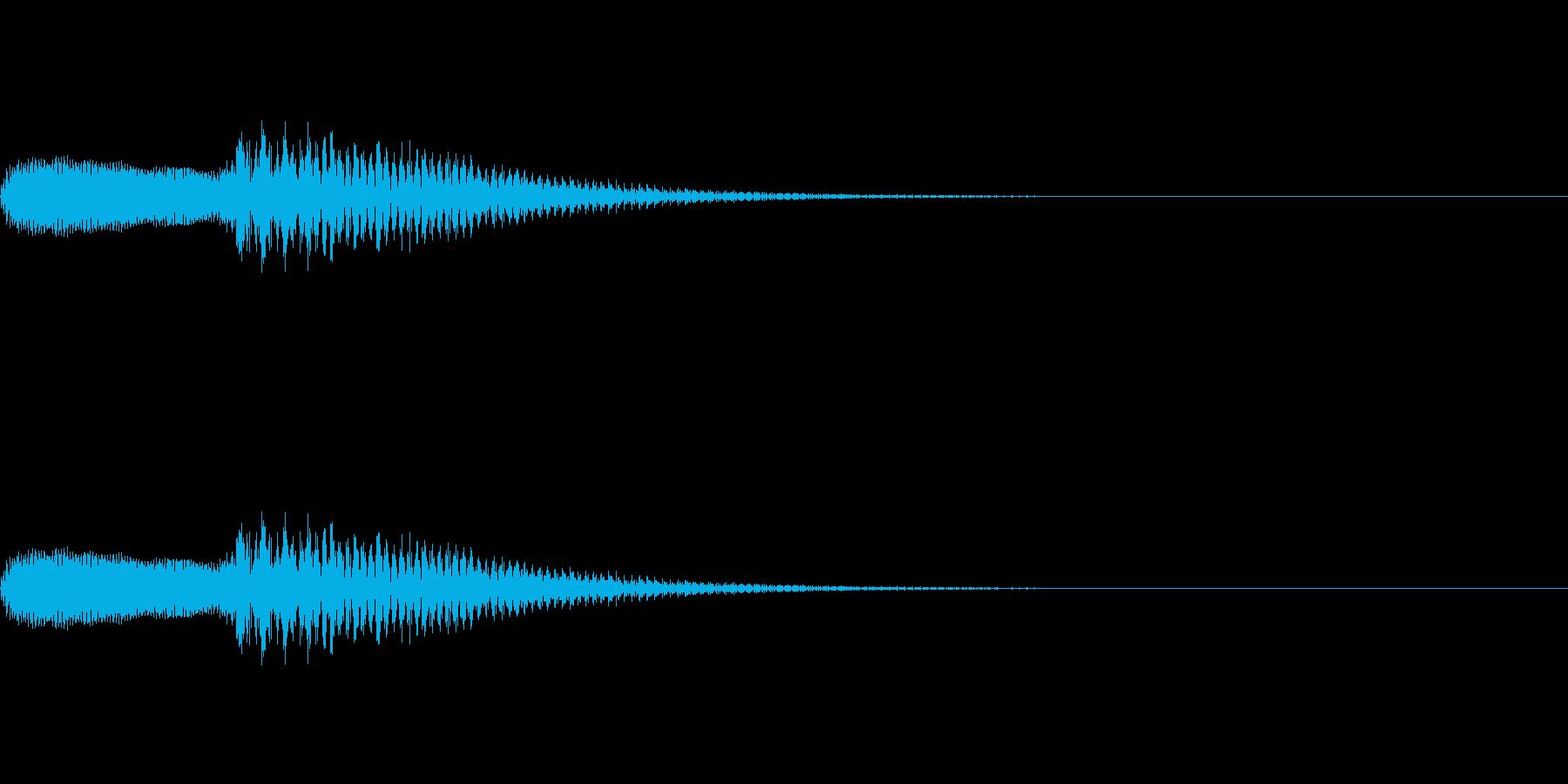 パパン(ピアノのエラー音)の再生済みの波形