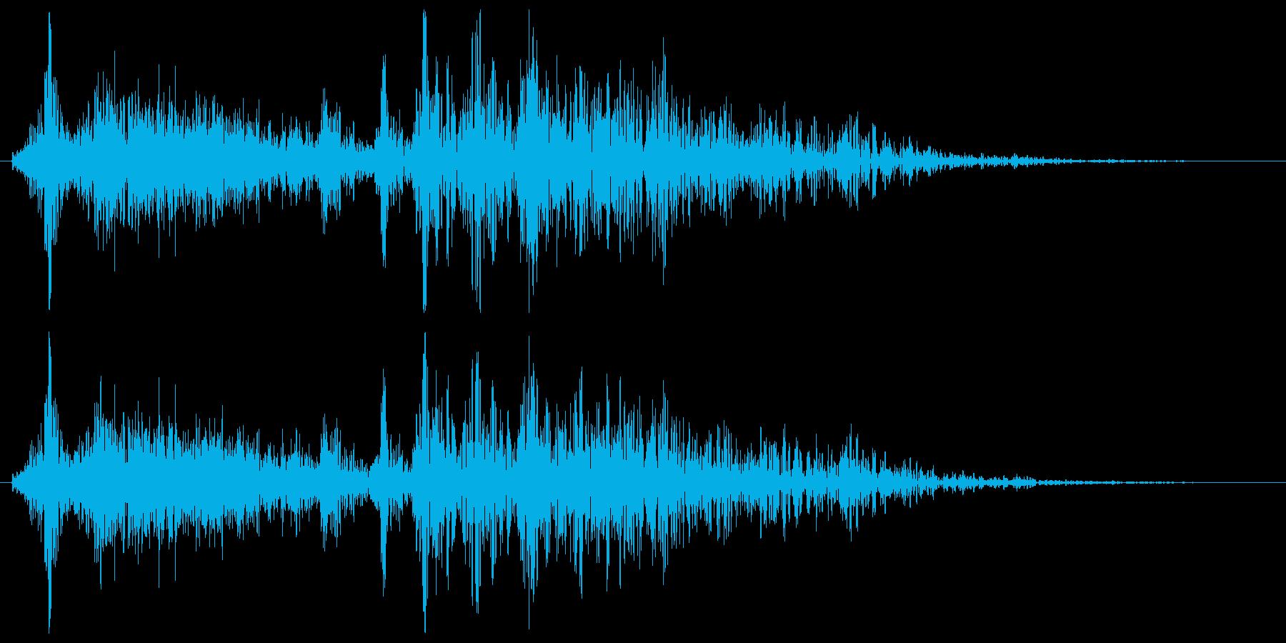 モンスター・海洋生物の触手がダウンする音の再生済みの波形