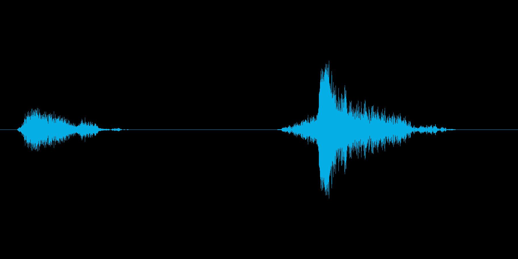 (深呼吸/あくび)の再生済みの波形