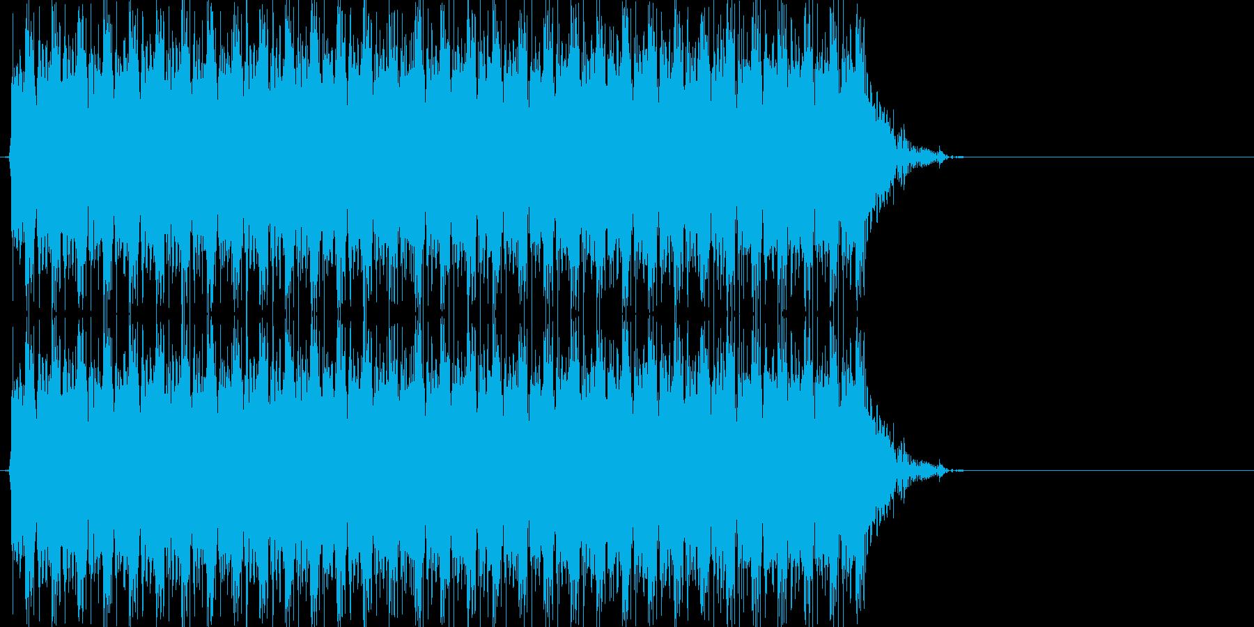 ドドドドドドドド(マシンガン、連射)の再生済みの波形