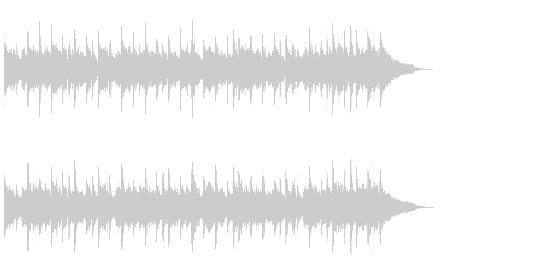 爽快に疾走するポップ(イントロ)の未再生の波形