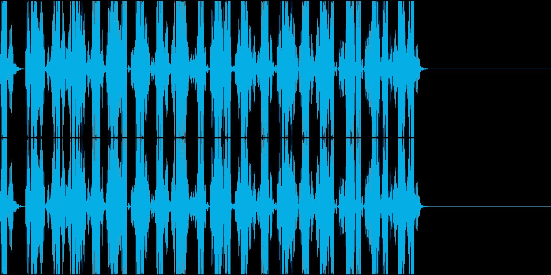 スクラッチの再生済みの波形