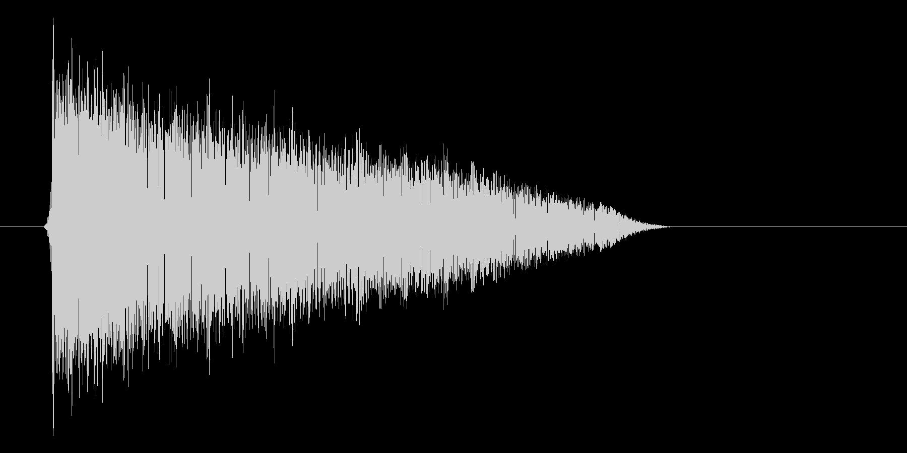 ゲーム(ファミコン風)爆発音_030の未再生の波形