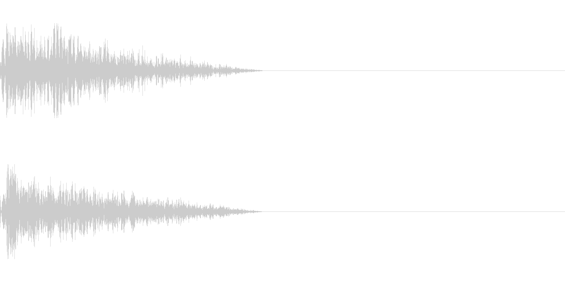 シンプルな打撃音2の未再生の波形