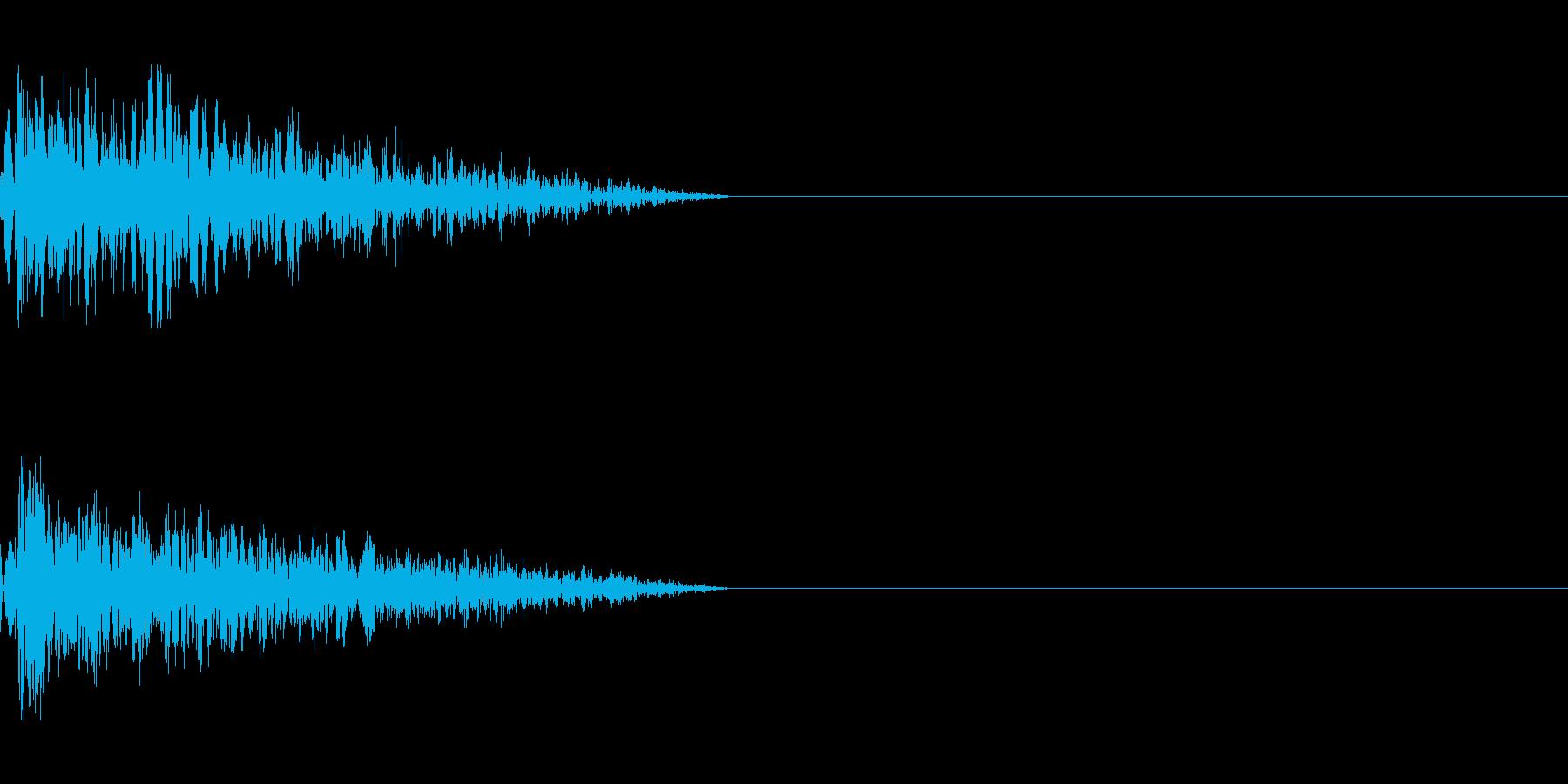 シンプルな打撃音2の再生済みの波形