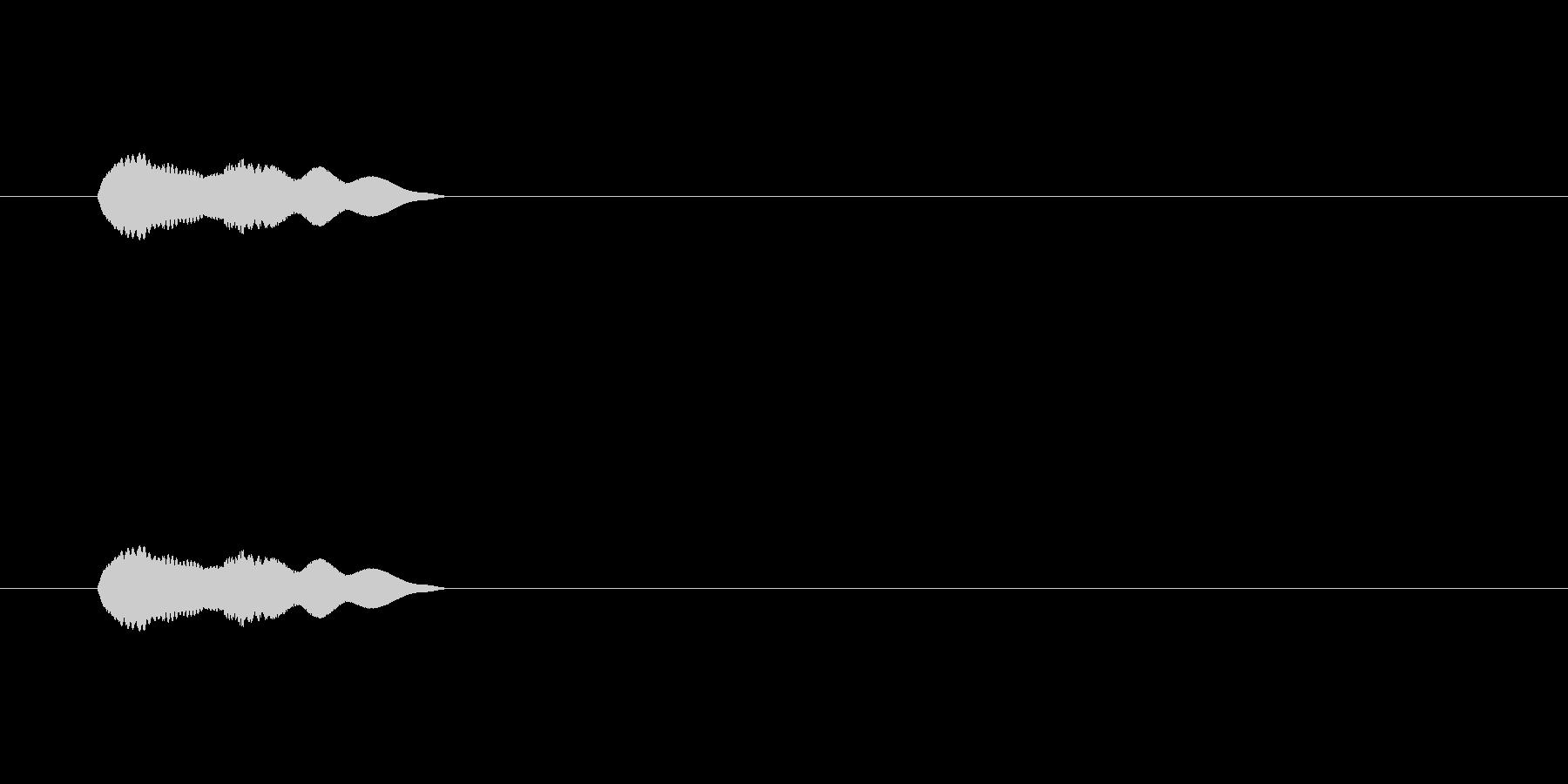 【アクセント34-1】の未再生の波形