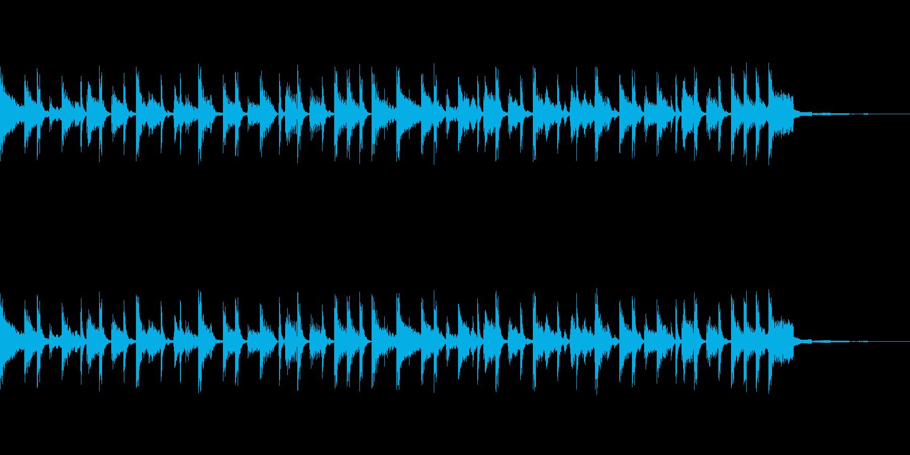 ワクワクするBGMの再生済みの波形